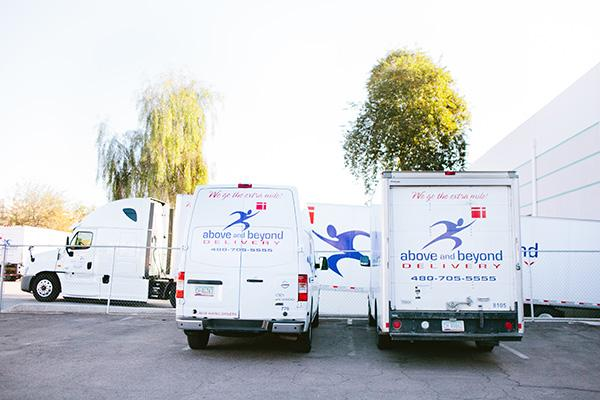 A complete array of courier, messenger, delivery, and third-party logistics services